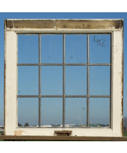 62 x 61,5 cm - Glas in lood raam No. 412