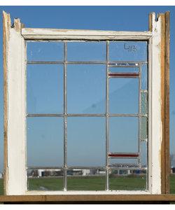 66,5 x 55 cm - Glas in lood raam No. 413