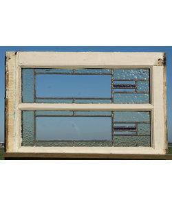 71,5 x 49,5 cm - Glas in lood raam No. 414