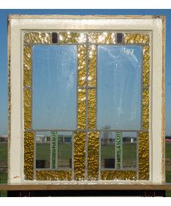 61,5 x 70,5 cm - Glas in lood raam No. 417