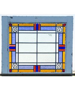 70 x 62,5 cm - Glas in lood raam No. 419