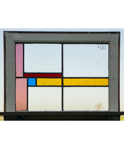 68,5 x 52,5 cm - Glas in lood raam No. 420