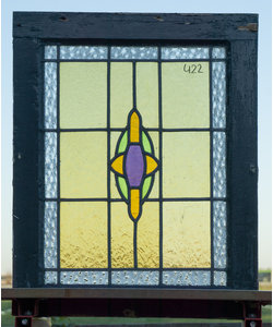 65 x 52 cm - Glas in lood raam No. 422