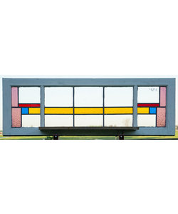 41 x 125 cm - Glas in lood raam No. 424