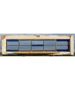122,5 x 36 cm - Glas in lood raam No. 461