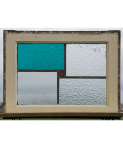 60 x 45 cm - Glas in lood raam No. 463