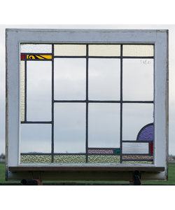 77 x 71 cm - Glas in lood raam No. 460