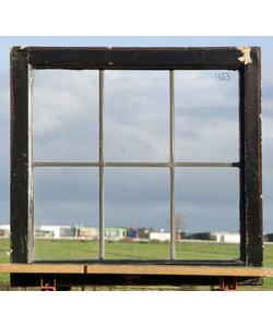 67 x 63,5 cm - Glas in lood raam No. 453
