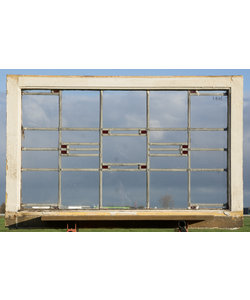 101 x 65 cm - Glas in lood raam No. 446