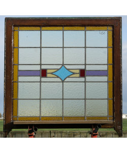 88,5 x 89 cm - Glas in lood raam No. 456