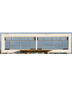 155,5 x 41,5 cm - Glas in lood raam No. 442