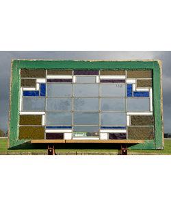101 x 60 cm - Glas in lood raam No. 448