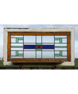 99 x 53 cm - Glas in lood raam No. 440