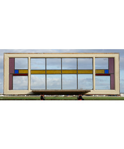 144 x 52,5 cm - Glas in lood raam No. 447