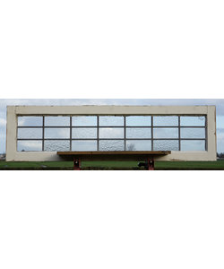 135,5 x 37 cm - Glas in lood raam No. 438