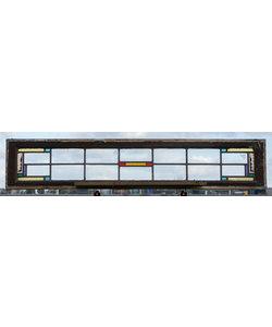 143,5 x 28 cm - Glas in lood raam No. 435