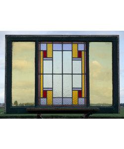115 x 79 cm - Glas in lood raam No. 444