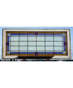 138 x 61,5 cm - Glas in lood raam No. 441
