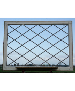 121 x 78,5 cm - Glas in lood raam No. 432
