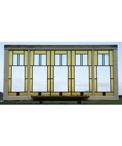 143 x 71 cm - Glas in lood raam No. 429
