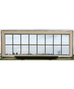 120,5 x 48 cm - Glas in lood raam No. 431