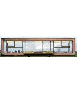 174 x 39,5 cm - Glas in lood raam No. 426
