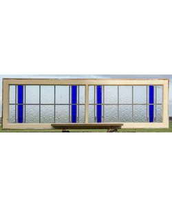 167 x 50 cm - Glas in lood raam No. 425