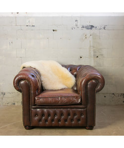 Vintage Chesterfield fauteuil - Bruin