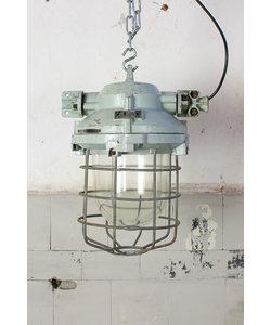 Fabriekslamp 'Caged Liboc' - Grey/green