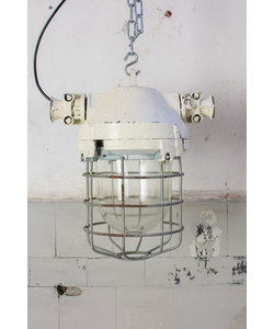 Fabriekslamp 'Caged Liboc' - White