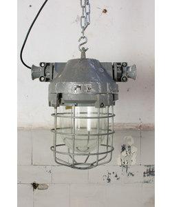 Fabriekslamp 'Caged Liboc' - Silver/grey
