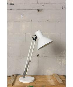 Stoere industriële bureaulamp - Wit