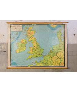 Landkaart - Groot Brittannië en Ierland