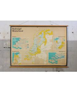 Vintage landkaart - Bedreigd waterland