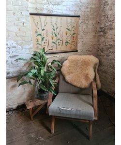 Enkele vintage fauteuil - Grijs