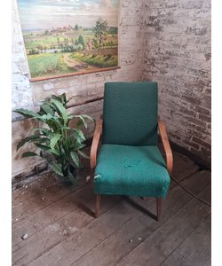 Enkele vintage fauteuil - Turquoise