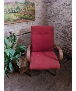 Enkele vintage fauteuil - Rood