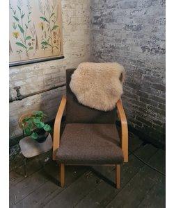 Enkele vintage fauteuil - Bruin