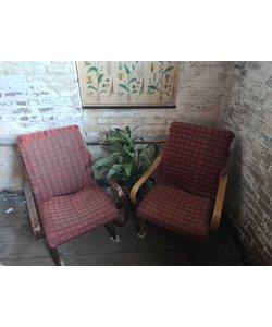Set vintage fauteuils - Rood