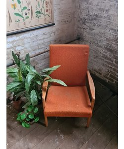 Enkele vintage fauteuil - Oranje