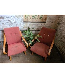 Set vintage fauteuils - Rood No. 5