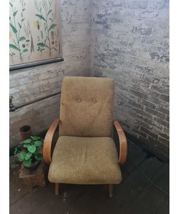 Enkele vintage fauteuil - Gebloemd