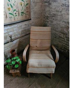 Enkele vintage fauteuil - Gestreept