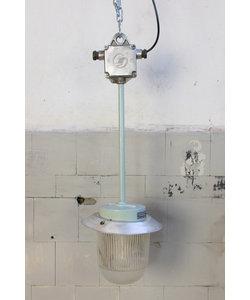 Vintage glazen hanglamp  'Straight glass'