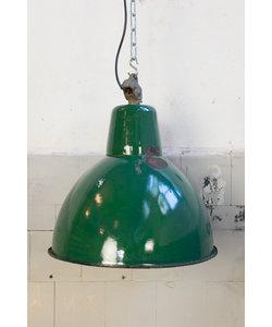 Industriële hanglamp - Groen emaille