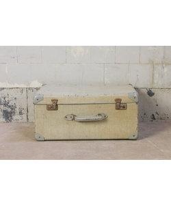 Vintage hoge koffer - Licht grijs