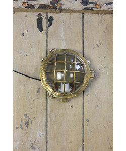 Messing wandlamp 'Cirkel Mosaz'