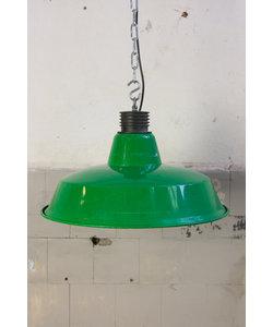 Vintage hanglamp 'Marine cargo' Fel groen