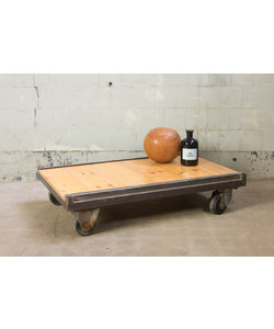 Vintage palletkar 'brushed steel small'