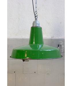 Vintage hanglamp 'Marine Cargo No. 2' - Groen